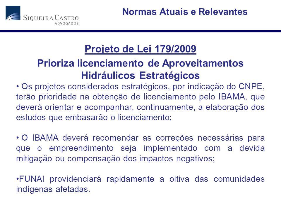 Prioriza licenciamento de Aproveitamentos Hidráulicos Estratégicos