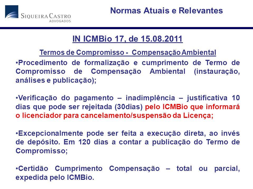 Normas Atuais e Relevantes IN ICMBio 17, de 15.08.2011