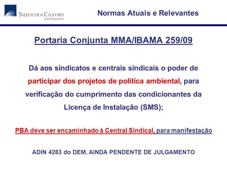 Portaria Conjunta MMA/IBAMA 259/09