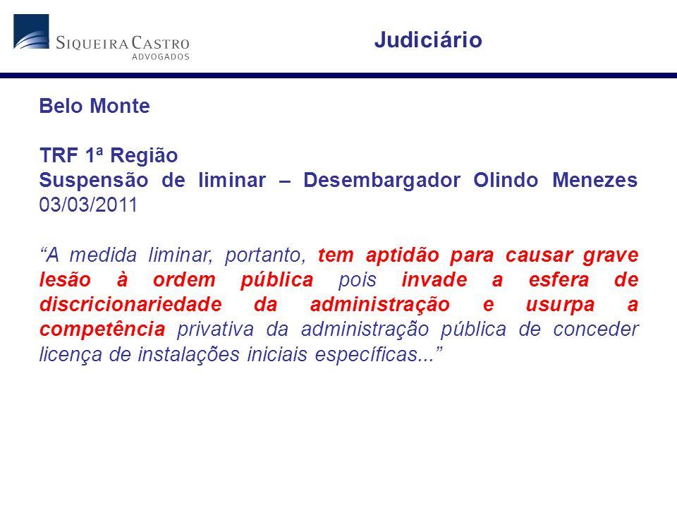 Judiciário Belo Monte TRF 1ª Região