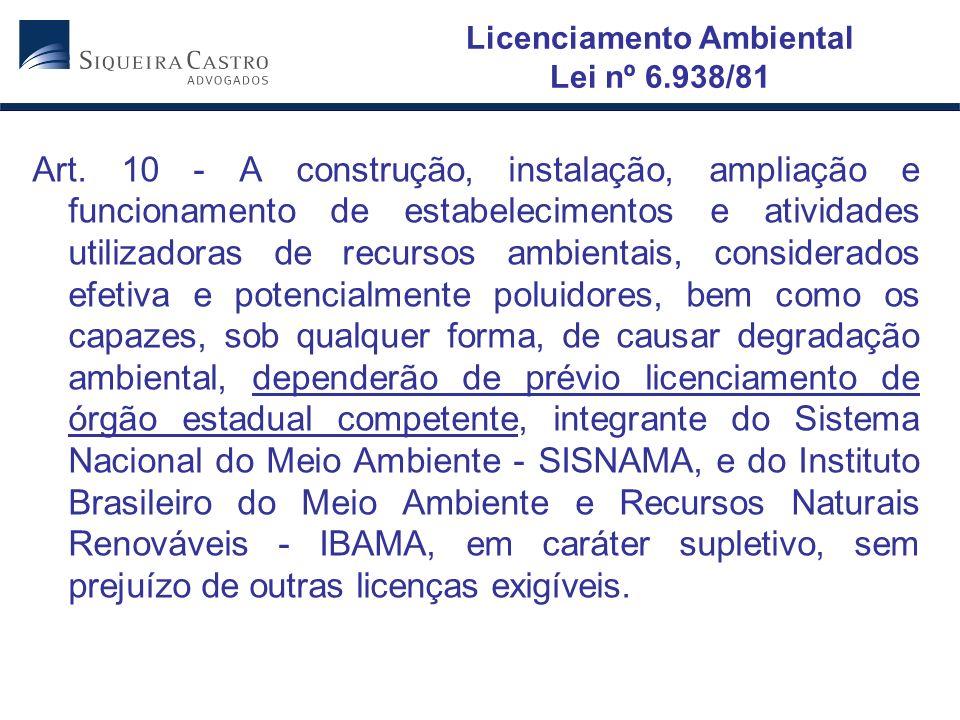 Licenciamento Ambiental Lei nº 6.938/81