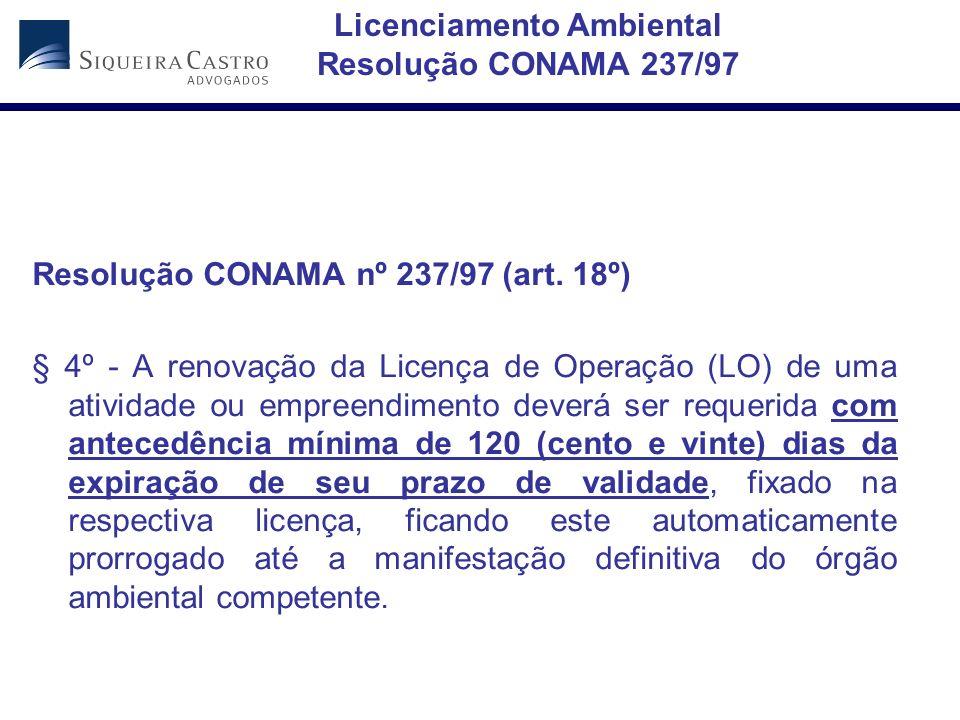 Licenciamento Ambiental Resolução CONAMA 237/97