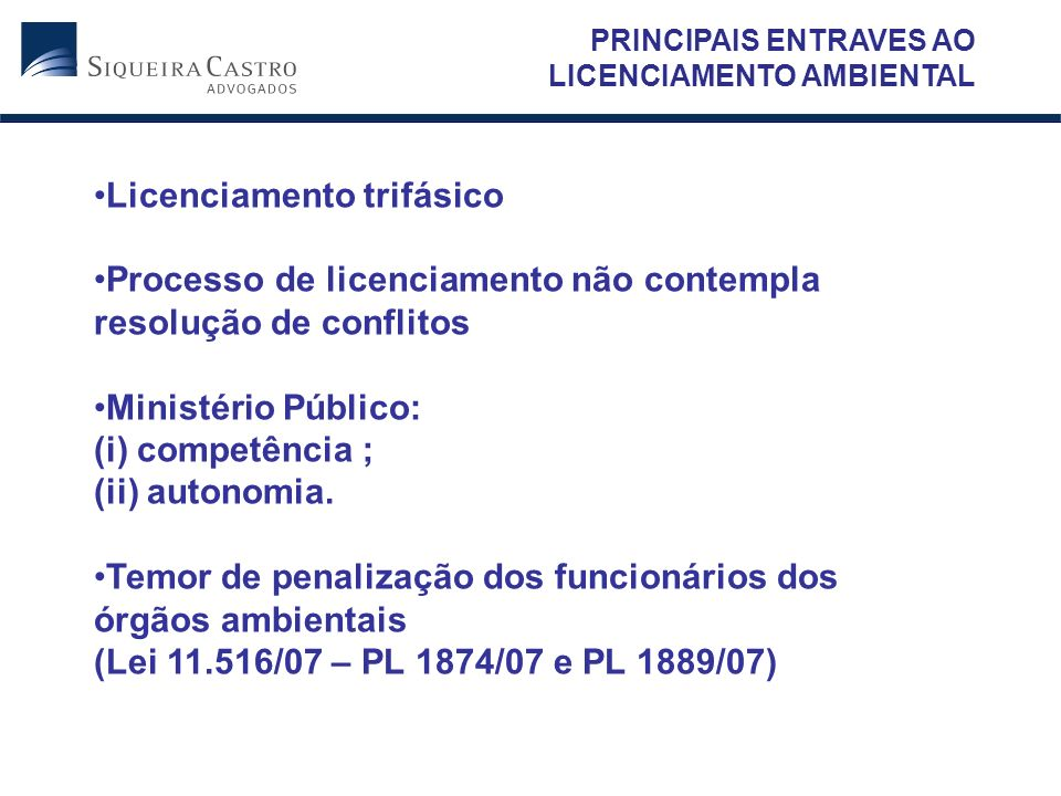 Licenciamento trifásico