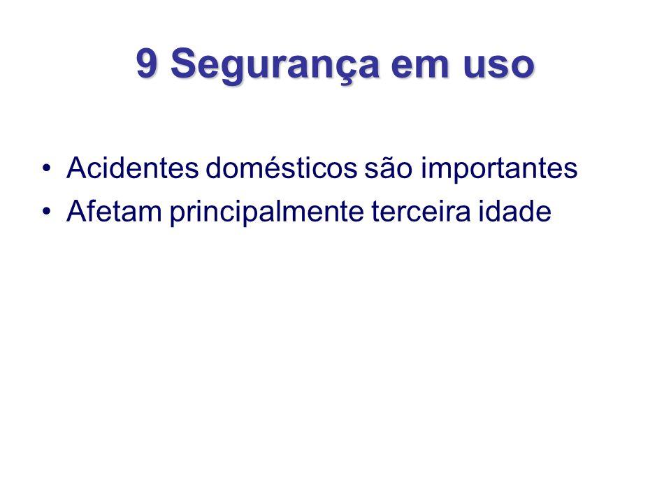 9 Segurança em uso Acidentes domésticos são importantes