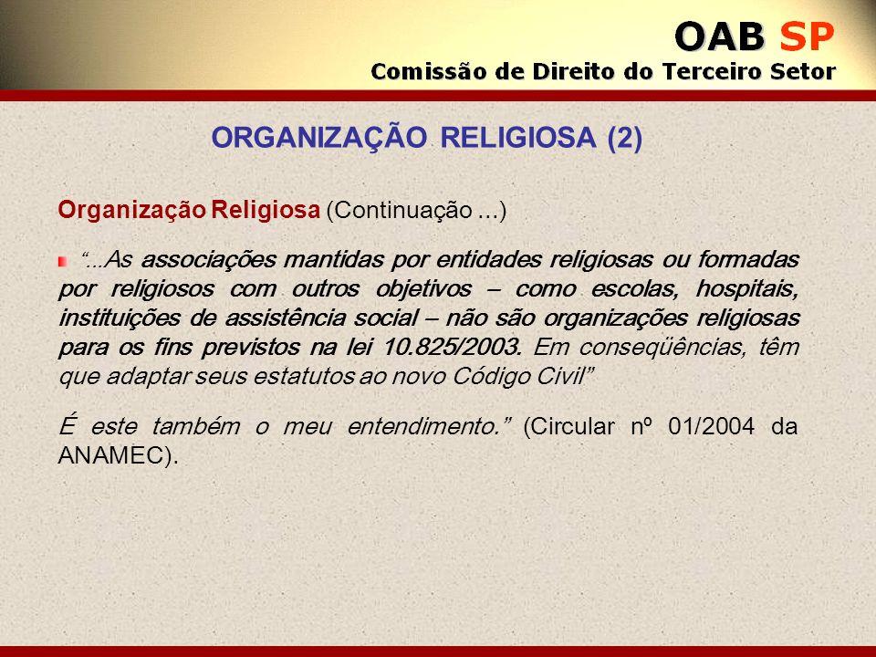 ORGANIZAÇÃO RELIGIOSA (2)