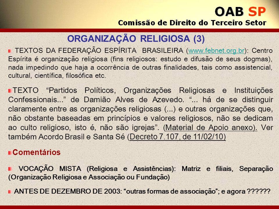 ORGANIZAÇÃO RELIGIOSA (3)