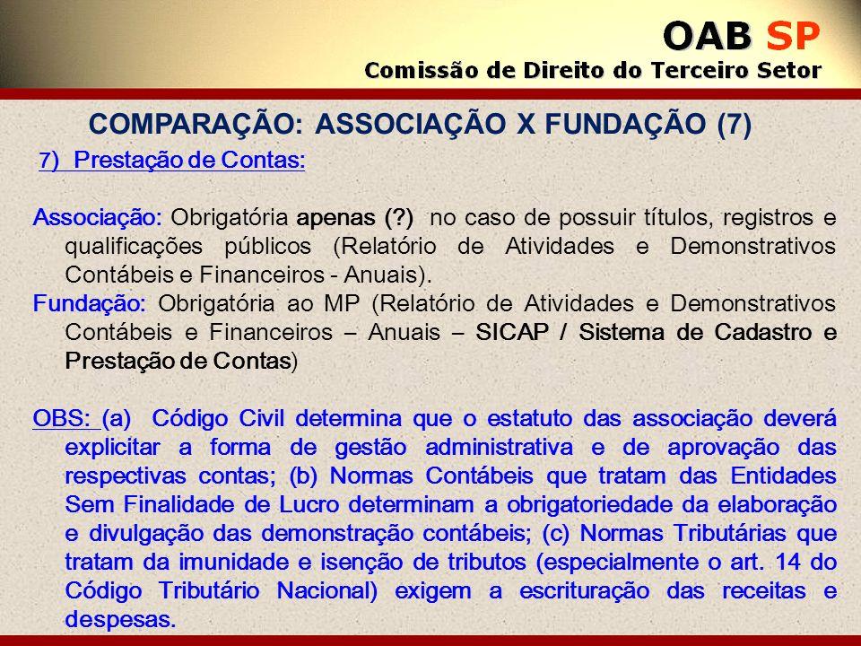 COMPARAÇÃO: ASSOCIAÇÃO X FUNDAÇÃO (7)