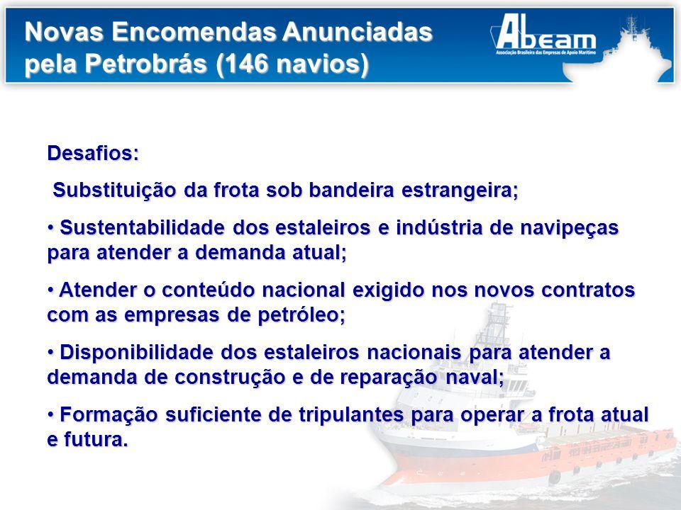 Novas Encomendas Anunciadas pela Petrobrás (146 navios)
