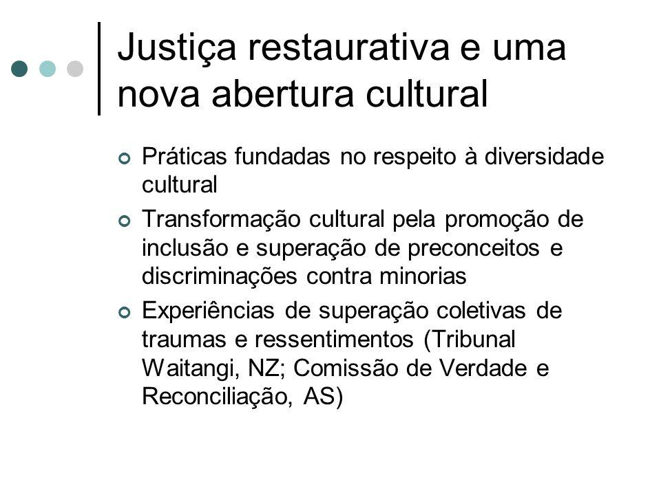 Justiça restaurativa e uma nova abertura cultural