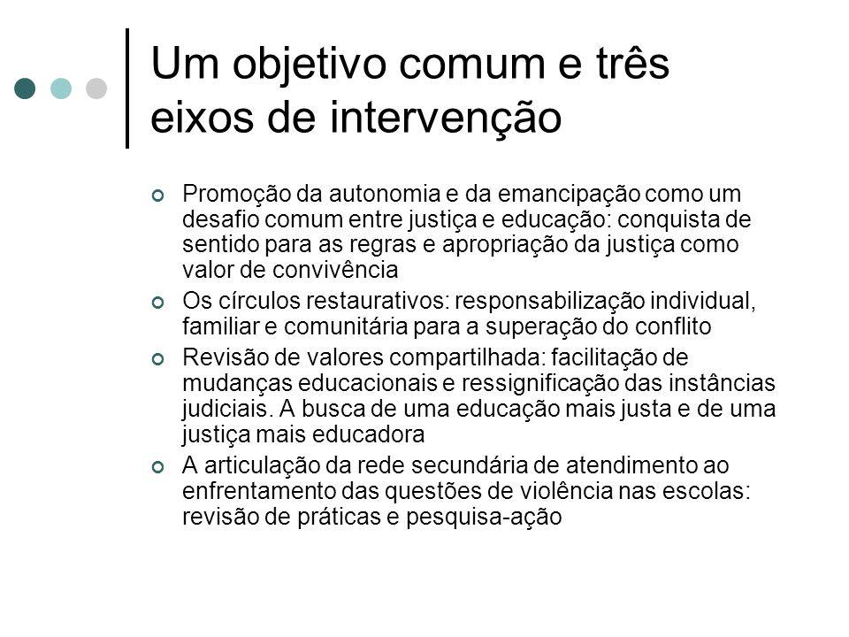 Um objetivo comum e três eixos de intervenção