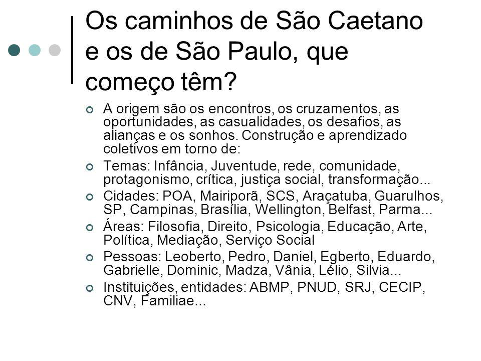 Os caminhos de São Caetano e os de São Paulo, que começo têm