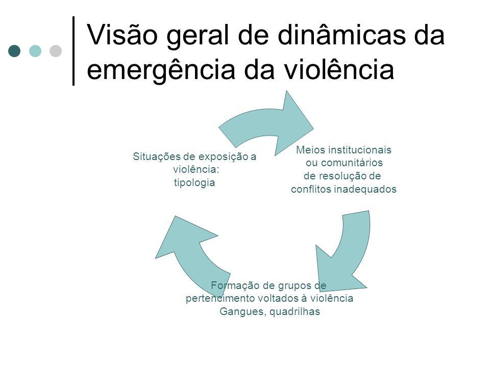 Visão geral de dinâmicas da emergência da violência