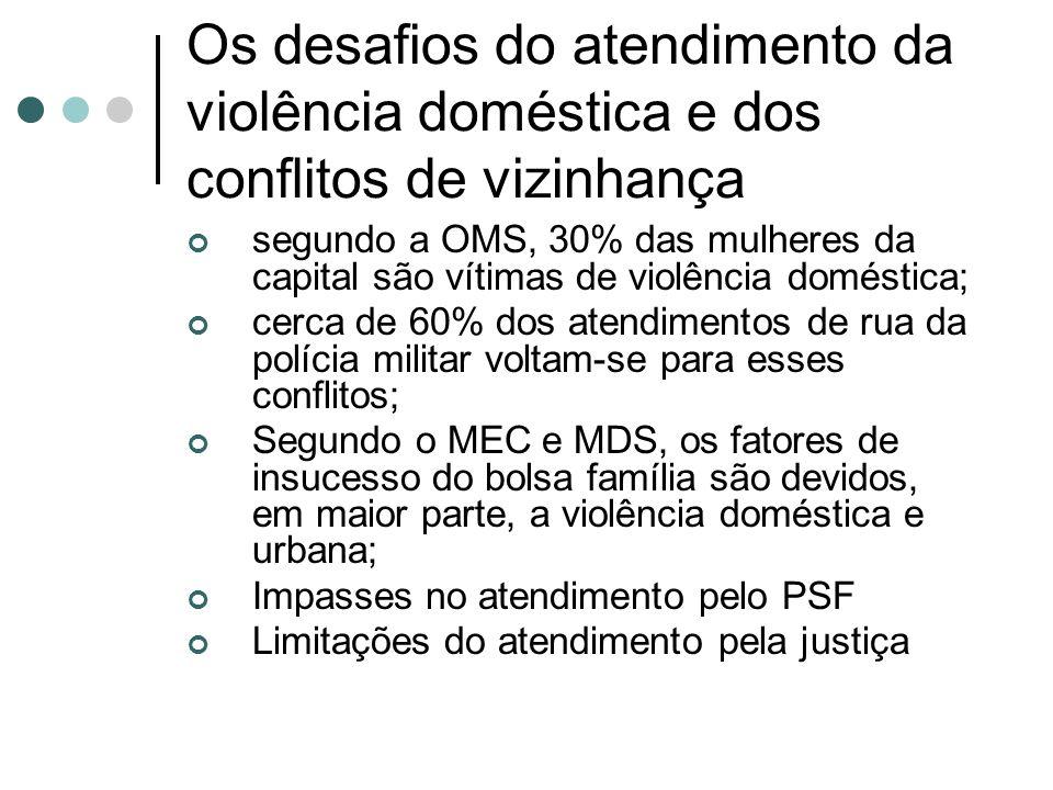 Os desafios do atendimento da violência doméstica e dos conflitos de vizinhança