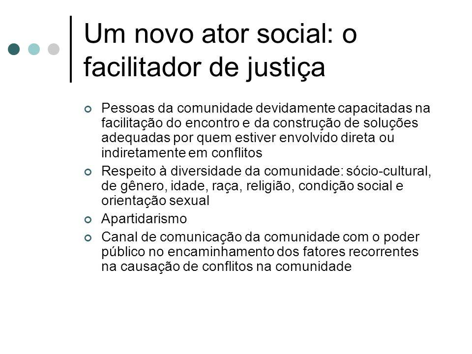 Um novo ator social: o facilitador de justiça