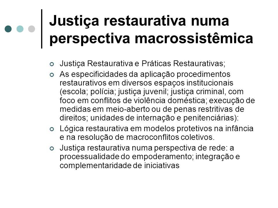 Justiça restaurativa numa perspectiva macrossistêmica