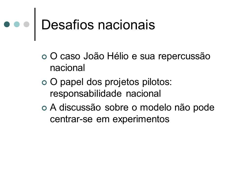Desafios nacionais O caso João Hélio e sua repercussão nacional