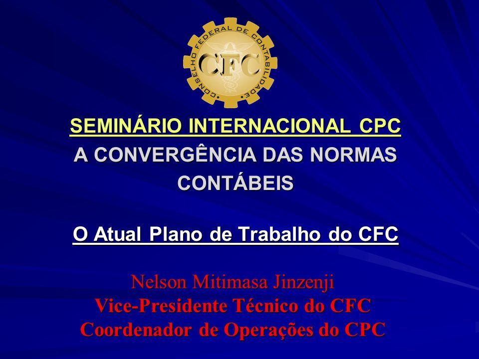 Vice-Presidente Técnico do CFC Coordenador de Operações do CPC