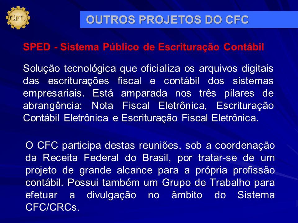 OUTROS PROJETOS DO CFC SPED - Sistema Público de Escrituração Contábil