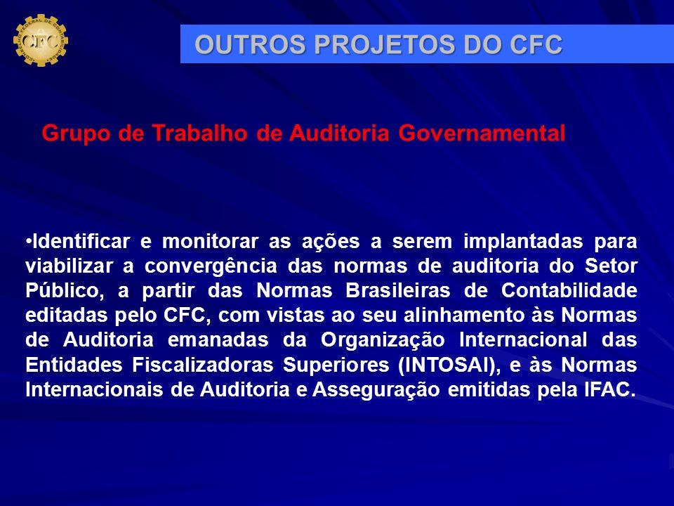 OUTROS PROJETOS DO CFC Grupo de Trabalho de Auditoria Governamental