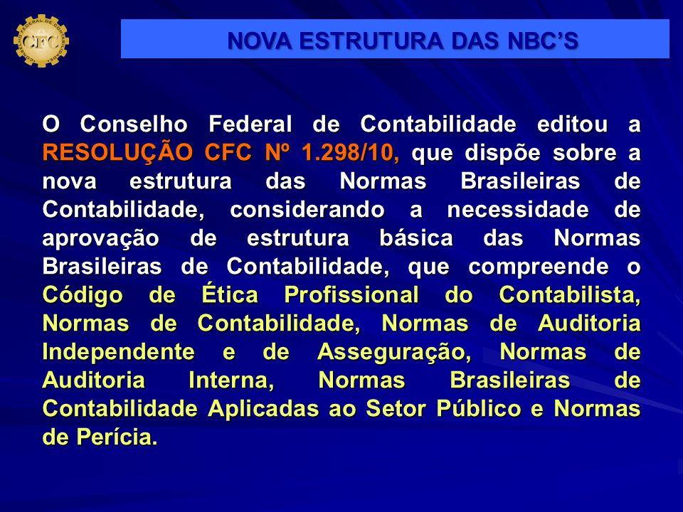 NOVA ESTRUTURA DAS NBC'S