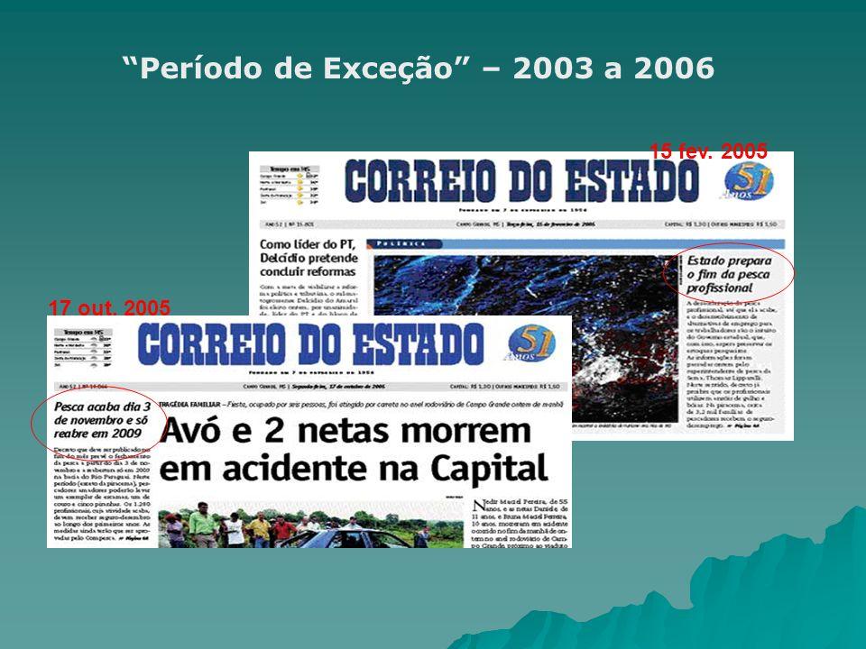 Período de Exceção – 2003 a 2006