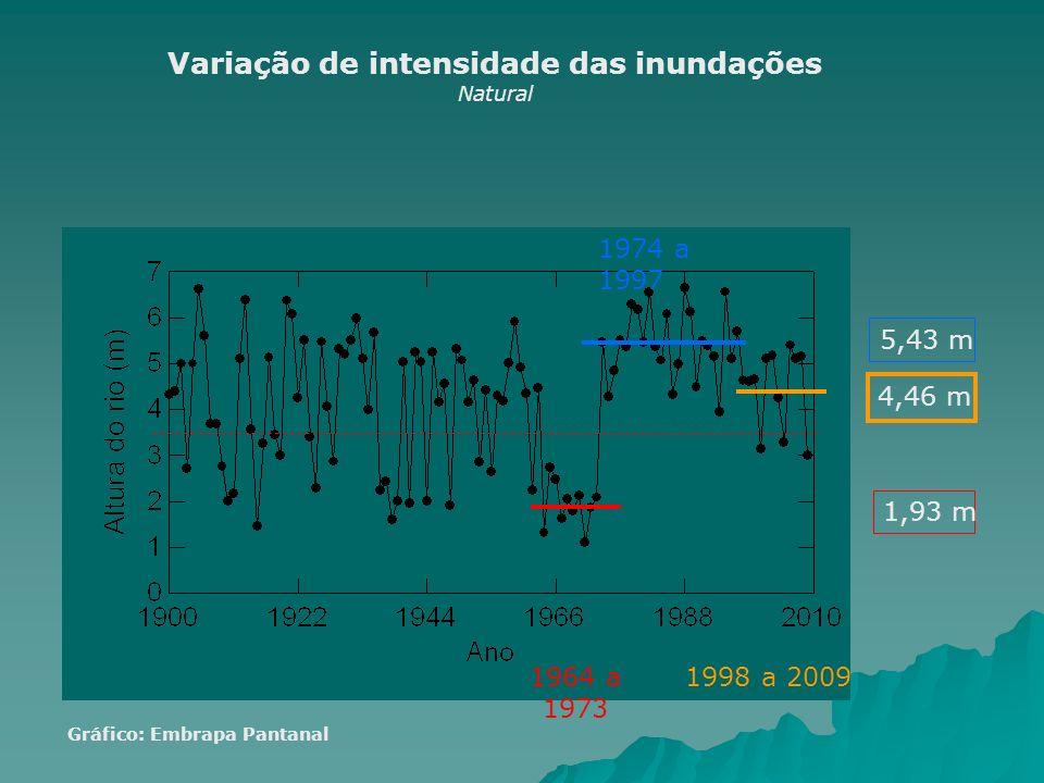 Variação de intensidade das inundações