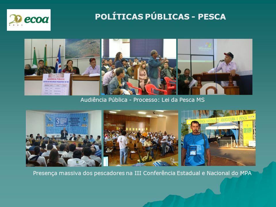 POLÍTICAS PÚBLICAS - PESCA