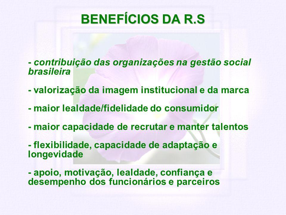 BENEFÍCIOS DA R.S