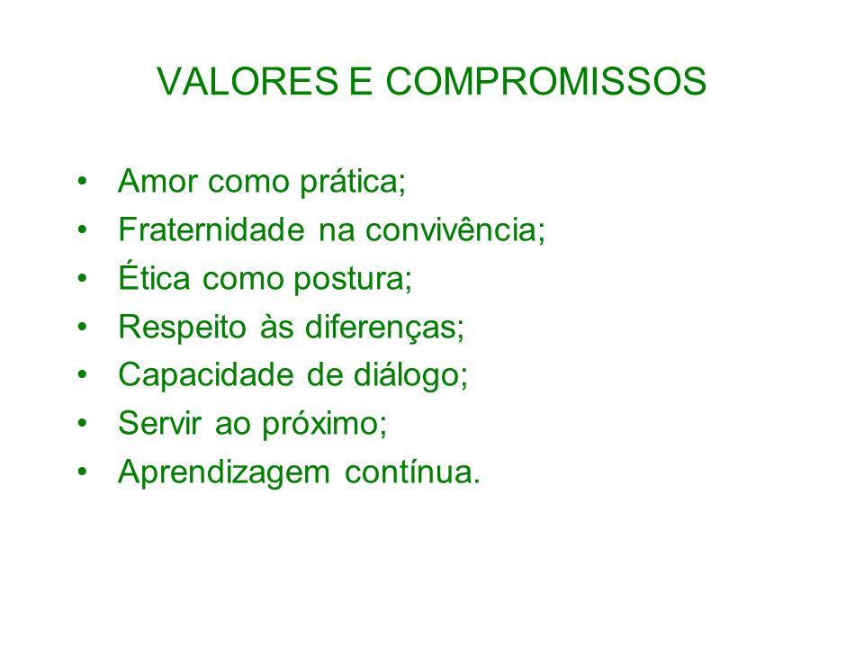 VALORES E COMPROMISSOS
