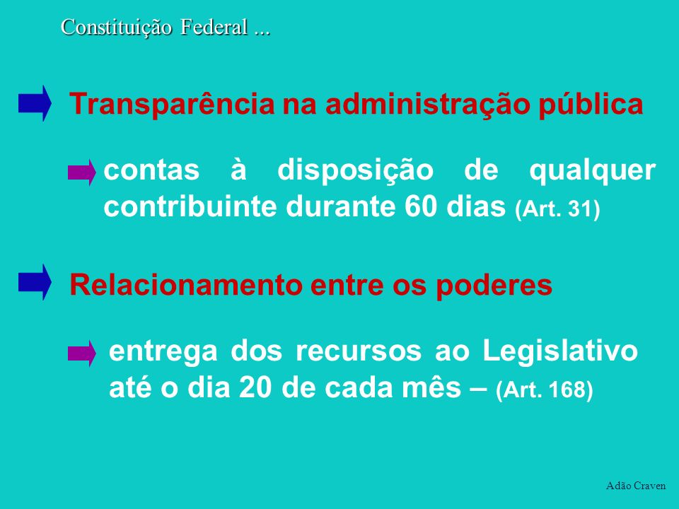 Transparência na administração pública