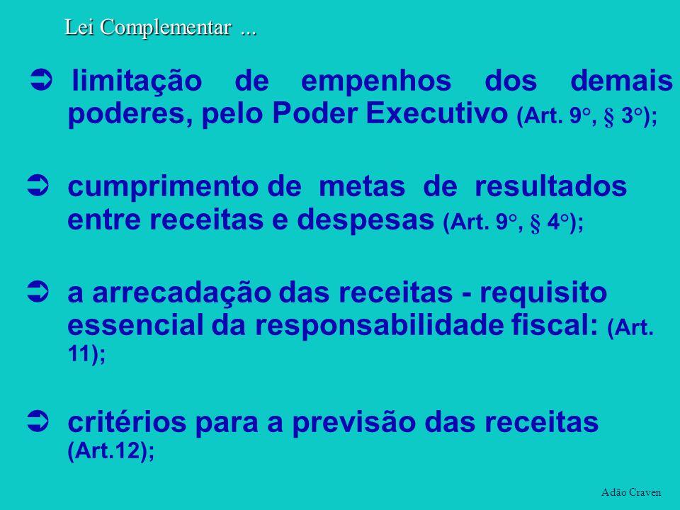critérios para a previsão das receitas (Art.12);