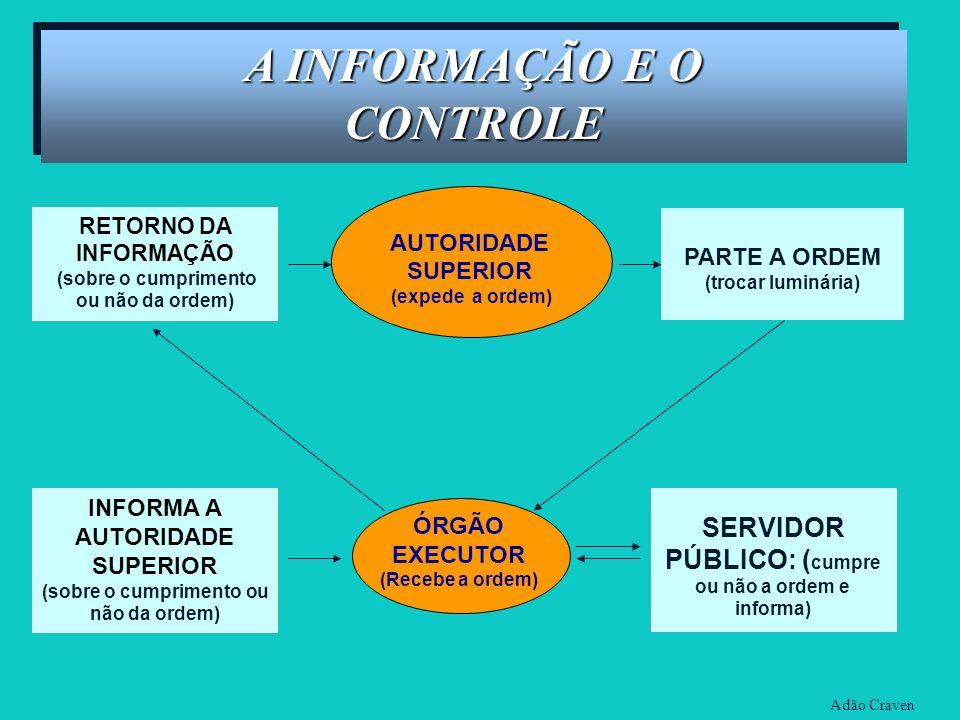 A INFORMAÇÃO E O CONTROLE
