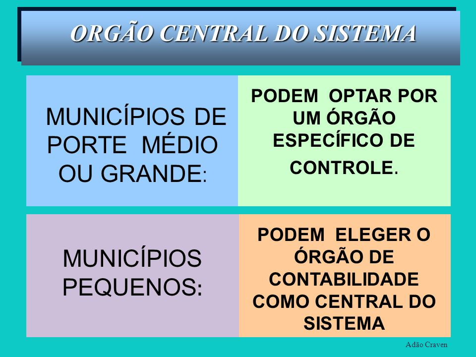 ORGÃO CENTRAL DO SISTEMA