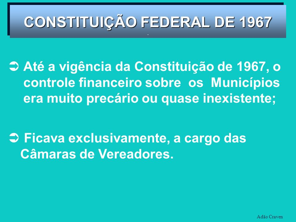 CONSTITUIÇÃO FEDERAL DE 1967