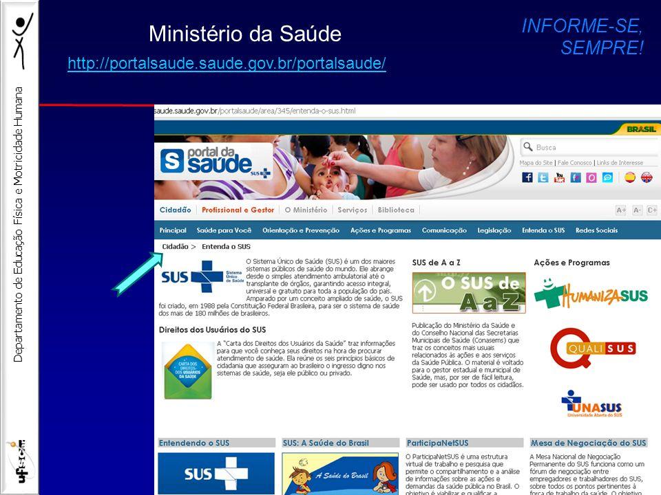 Ministério da Saúde INFORME-SE, SEMPRE!