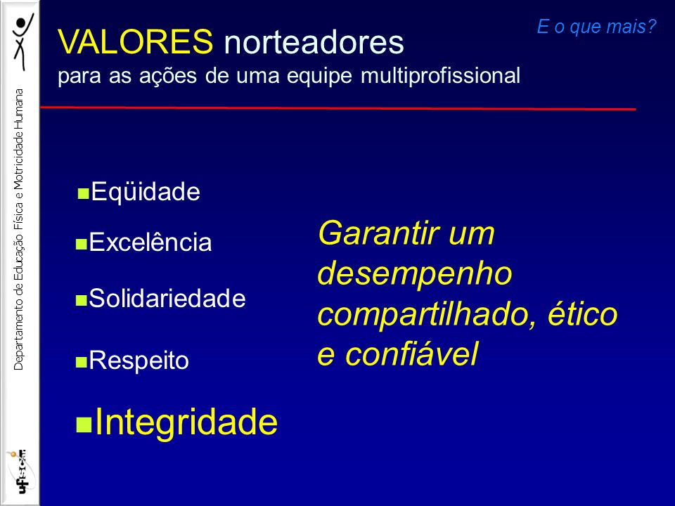 Integridade VALORES norteadores