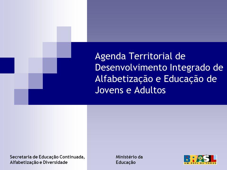 Agenda Territorial de Desenvolvimento Integrado de Alfabetização e Educação de Jovens e Adultos