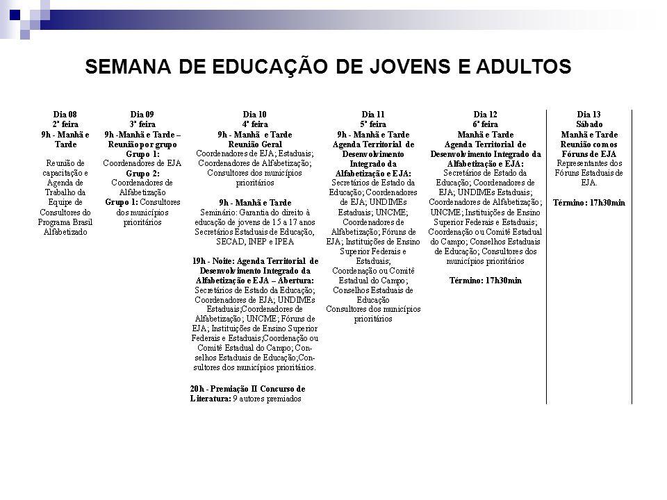 SEMANA DE EDUCAÇÃO DE JOVENS E ADULTOS