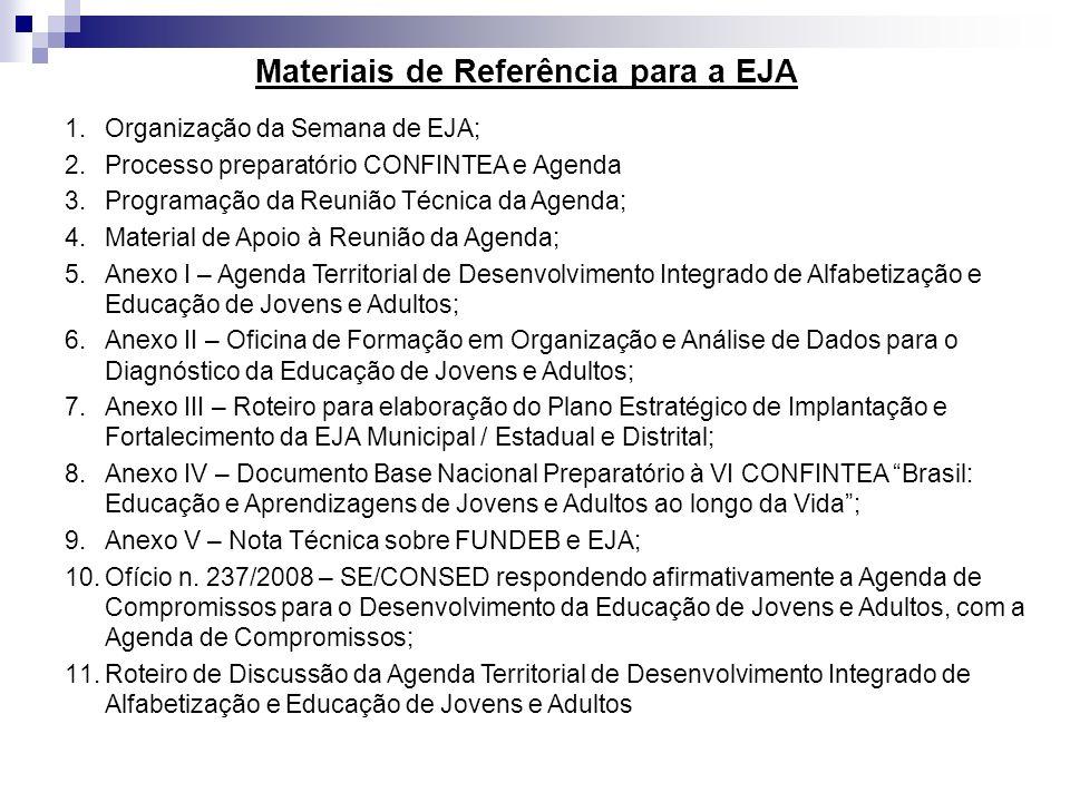 Materiais de Referência para a EJA