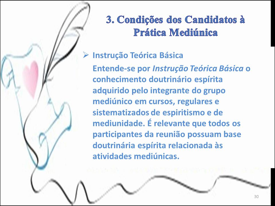 3. Condições dos Candidatos à Prática Mediúnica