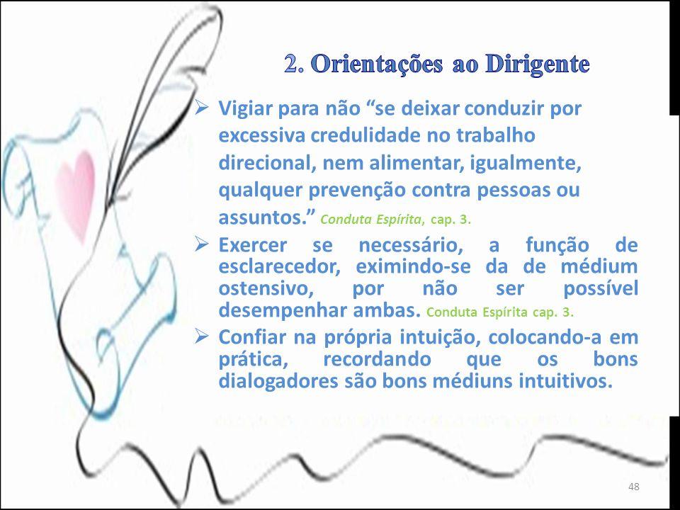 2. Orientações ao Dirigente
