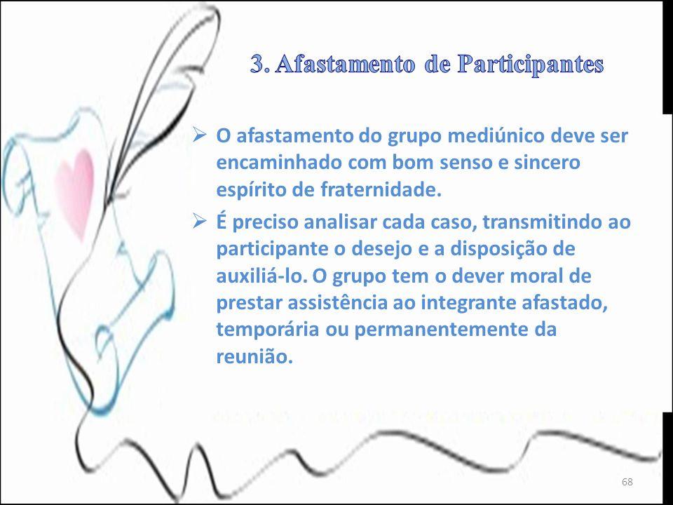 3. Afastamento de Participantes