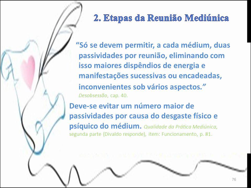 2. Etapas da Reunião Mediúnica