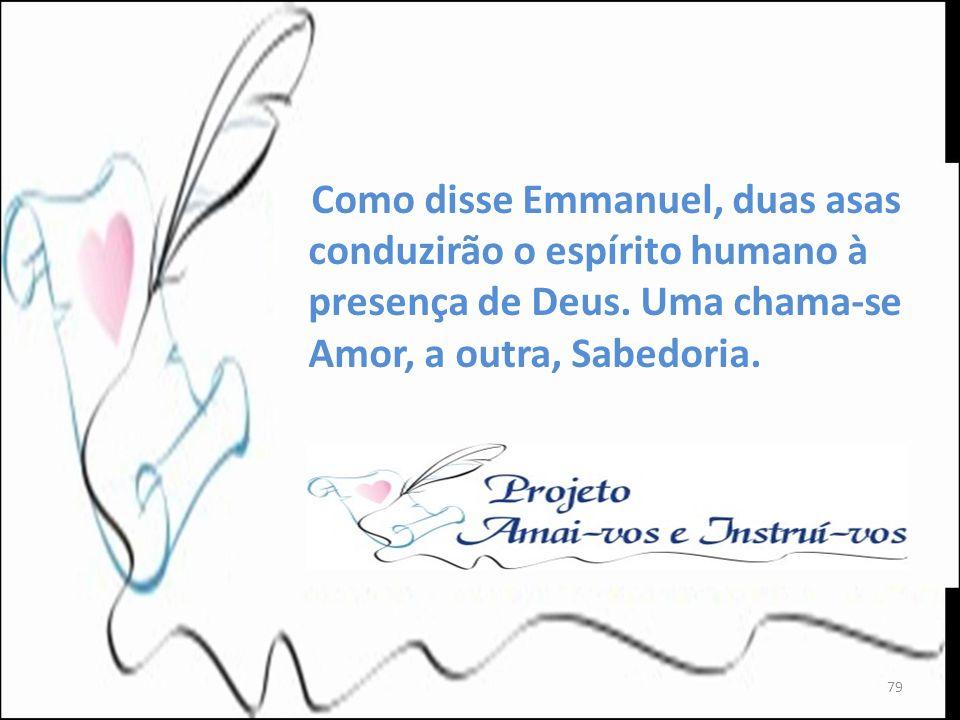 Como disse Emmanuel, duas asas conduzirão o espírito humano à presença de Deus.