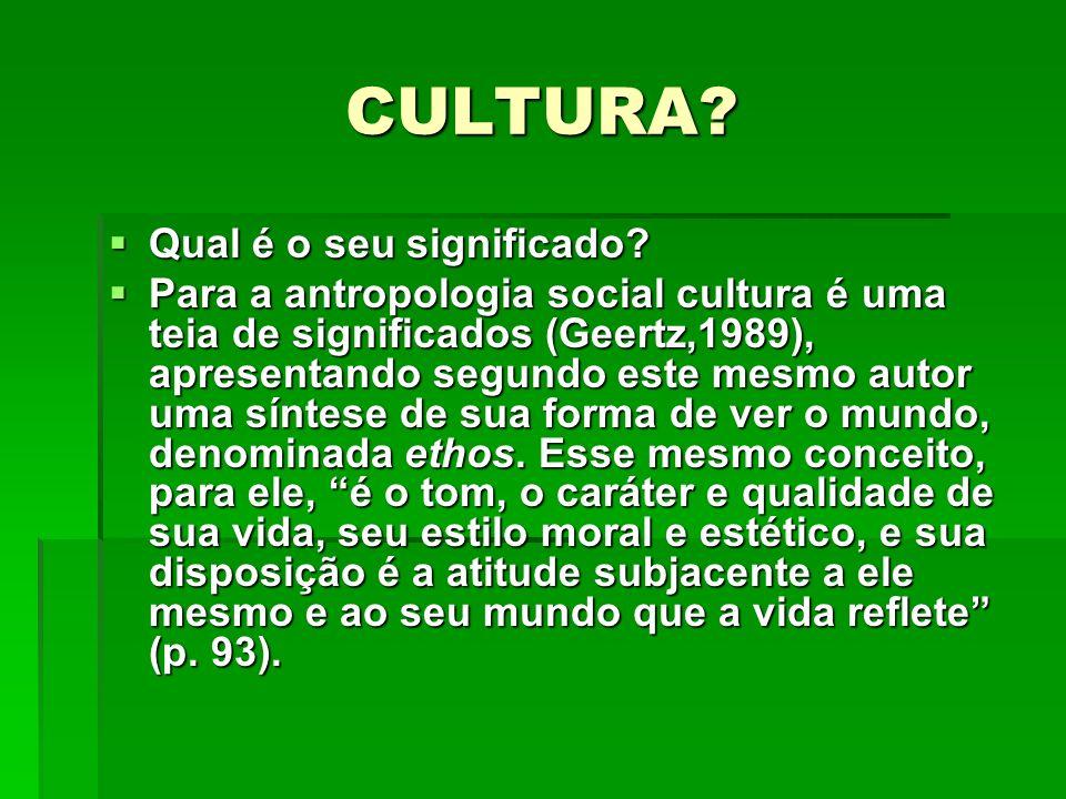 CULTURA Qual é o seu significado