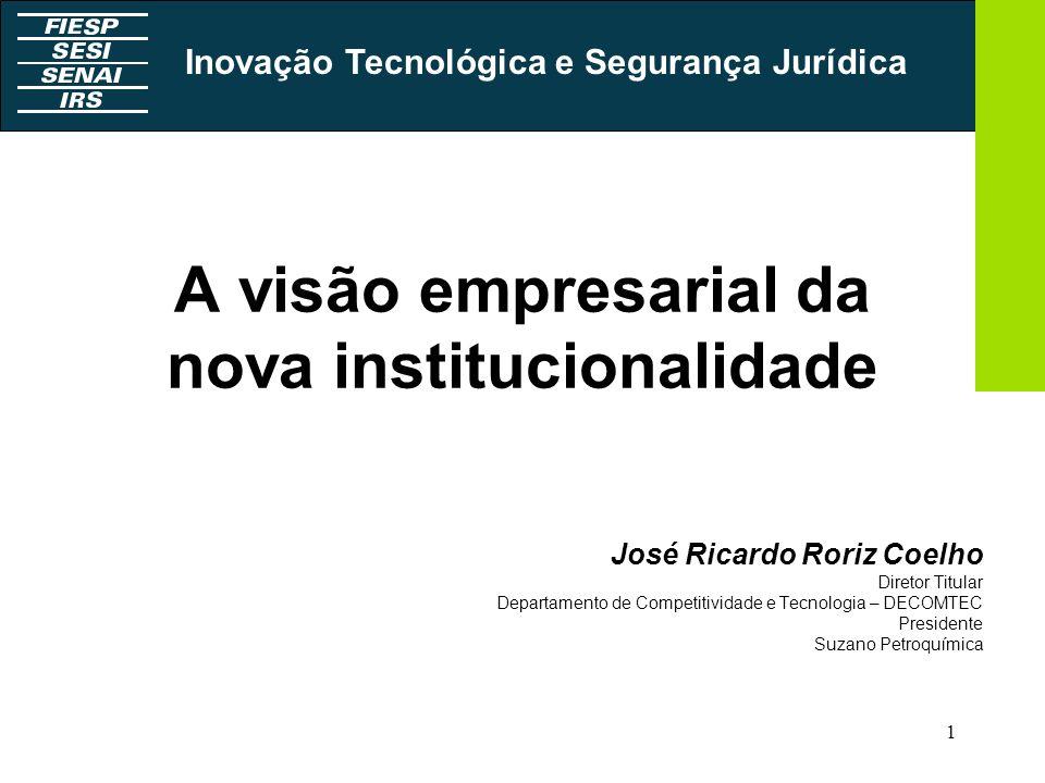 A visão empresarial da nova institucionalidade