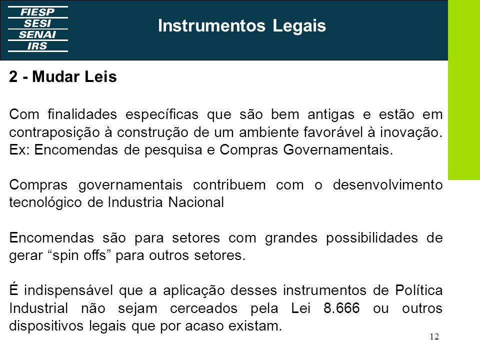 Instrumentos Legais 2 - Mudar Leis