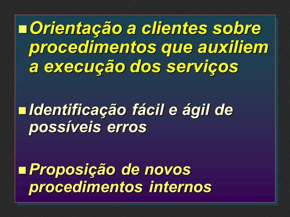 Orientação a clientes sobre procedimentos que auxiliem a execução dos serviços