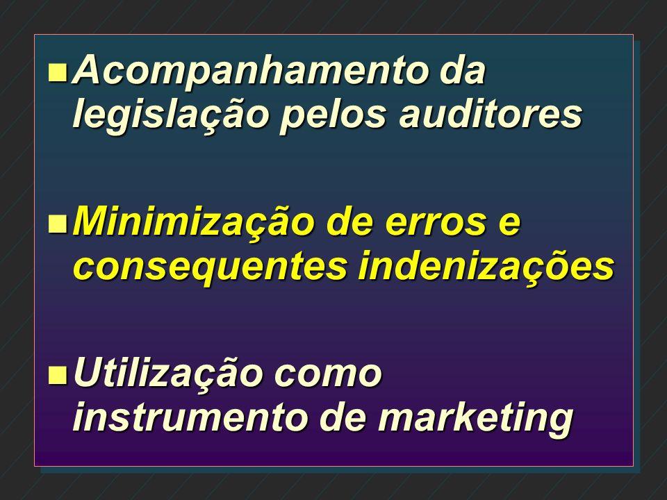 Acompanhamento da legislação pelos auditores
