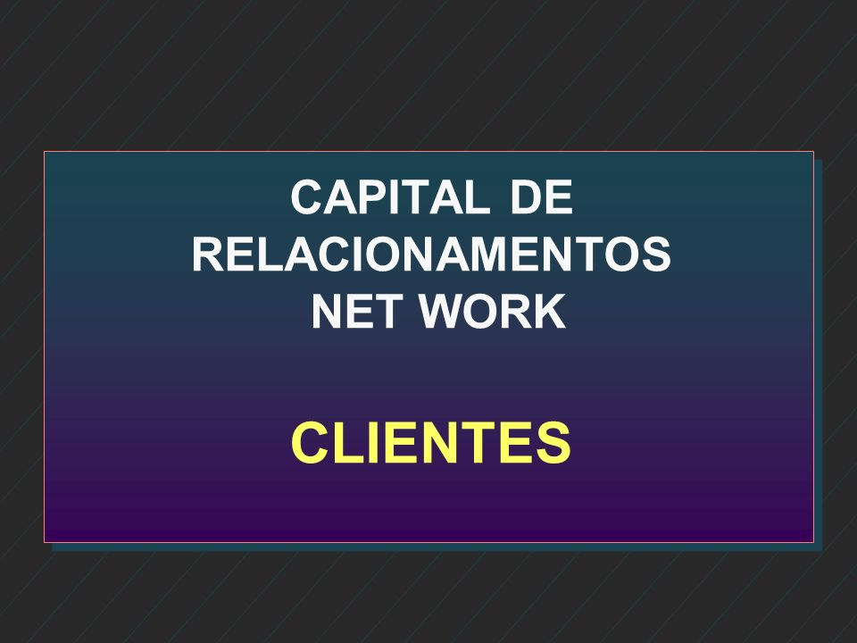 CAPITAL DE RELACIONAMENTOS NET WORK CLIENTES
